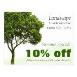 Landscape, Lawn, or Gardening Marketing Postcard