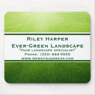 Landscape Lawn with Banner Mouse Pad