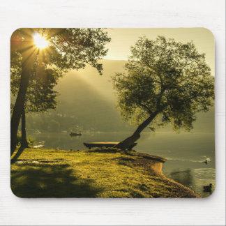 Landscape light sunshine mouse pad