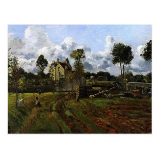 Landscape, Louveciennes by Camille Pissarro Postcard