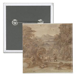 Landscape  Mercury and Apollo Button