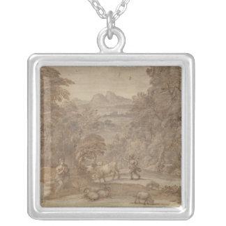 Landscape  Mercury and Apollo Personalized Necklace