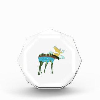 Landscape Moose Acrylic Award