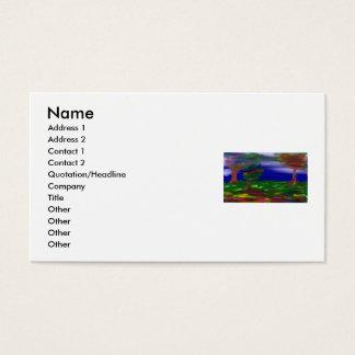 landscape, Name, Address 1, Address 2, Contact ... Business Card