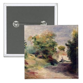 Landscape near Cagnes, 1907 (oil on canvas) 2 Inch Square Button