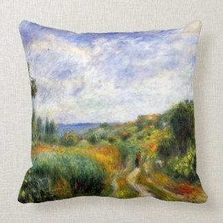 Landscape Near Essoyes Throw Pillow