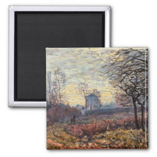 Landscape near Louveciennes, 1873 2 Inch Square Magnet