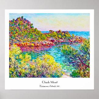 Landscape near Montecarlo 1883 Claude Monet Print