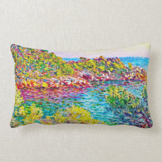 Landscape near Montecarlo, 1883 Claude Monet Throw Pillow