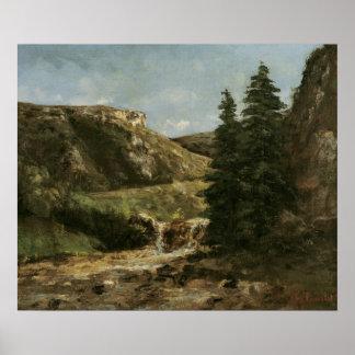 Landscape near Ornans, c.1858 Poster