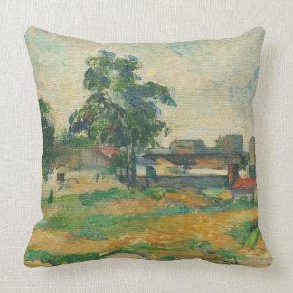 Landscape near Paris, c. 1876 (oil on canvas) Throw Pillow