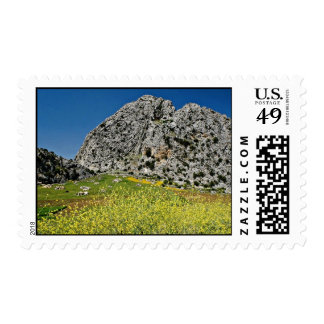 Landscape near Ronda, Andalucia, Spain  flowers Stamp