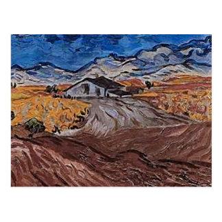 Landscape Near Saint-Rémy, Vincent van Gogh Fine Postcard