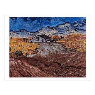 Landscape Near Saint-Rémy, Vincent van Gogh Postcard