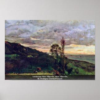 Landscape Near Villerville, Near Villerville Poster