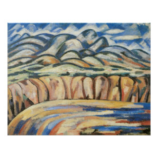Landscape, New Mexico by Marsden Hartley, Moderism Print