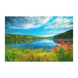 Landscape of Costello Lake Canvas Print