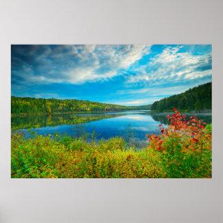 Landscape of Costello Lake Poster