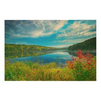 Landscape of Costello Lake Wood Print
