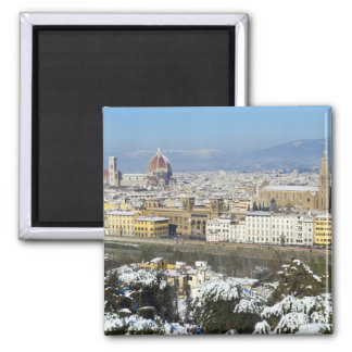 Landscape of Florence from Piazzale 2 Inch Square Magnet