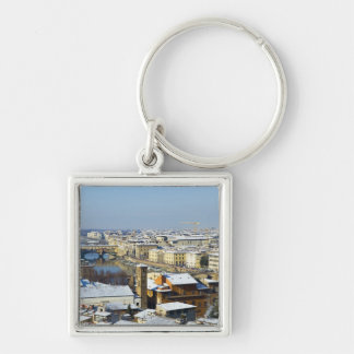 Landscape of Florence from Piazzale 2 Keychains