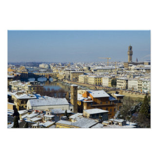 Landscape of Florence from Piazzale 2 Poster