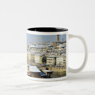 Landscape of Florence from Piazzale 2 Two-Tone Coffee Mug