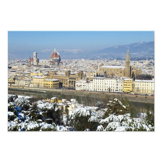 Landscape of Florence from Piazzale Photo Print
