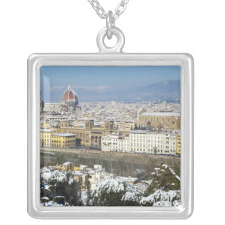 Landscape of Florence from Piazzale Silver Plated Necklace