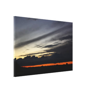 Landscape of getting late in the pine of Doñana Canvas Print