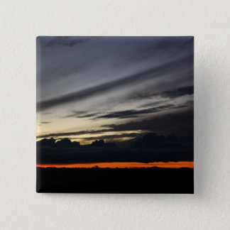 Landscape of getting late in the pine of Doñana Pinback Button