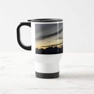 Landscape of getting late in the pine of Doñana Travel Mug