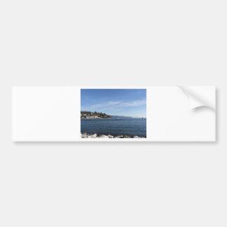 Landscape of Golfo Dei Poeti with its mussel farm Bumper Sticker