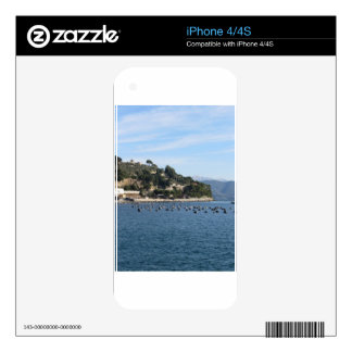 Landscape of Golfo Dei Poeti with its mussel farm iPhone 4 Decal
