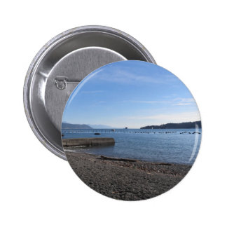 Landscape of Golfo Dei Poeti with its mussel farm Pinback Button