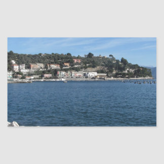 Landscape of Golfo Dei Poeti with its mussel farm Rectangular Sticker