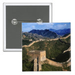 Landscape of Great Wall, Jinshanling, China 2 Inch Square Button
