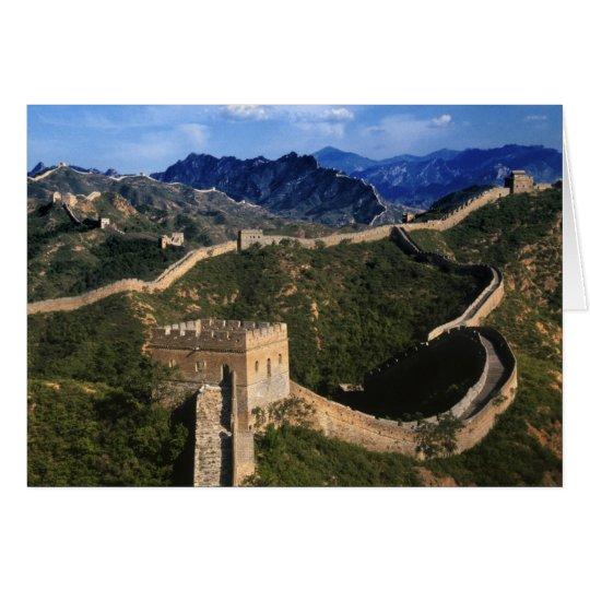 Landscape of Great Wall, Jinshanling, China Card