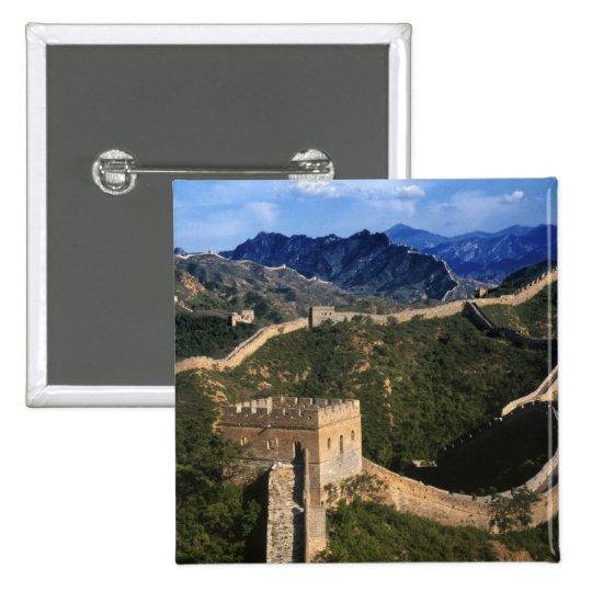 Landscape of Great Wall, Jinshanling, China Pinback Button