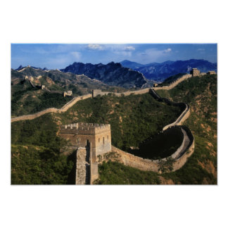Landscape of Great Wall, Jinshanling, China Poster
