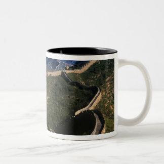 Landscape of Great Wall, Jinshanling, China Two-Tone Coffee Mug