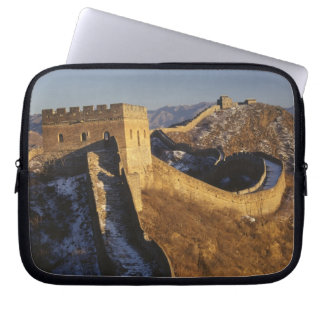 Landscape of Great Wall under sunset, China Computer Sleeve
