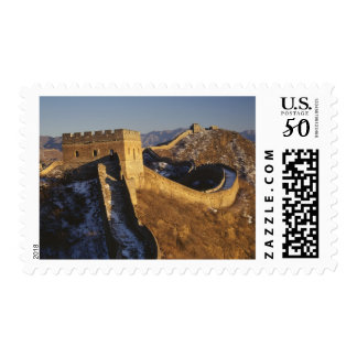 Landscape of Great Wall under sunset, China Postage