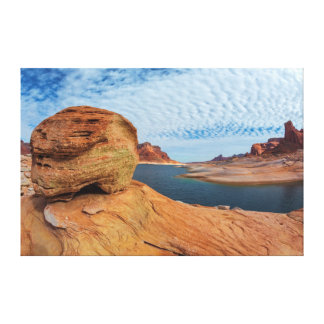 Landscape of Lake Powell Stretched Canvas Print
