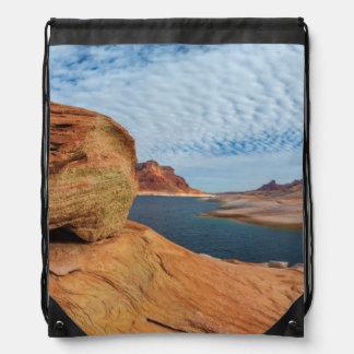 Landscape of Lake Powell Drawstring Backpack