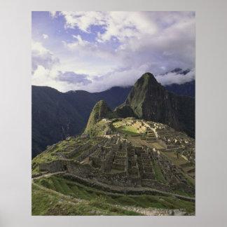 Landscape of Machu Picchu Peru Poster
