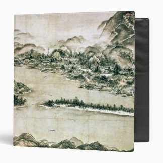 Landscape of mountains and a river 3 ring binders
