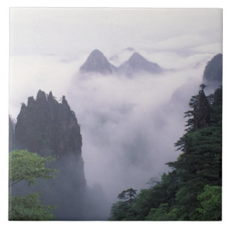 Landscape of Mt. Huangshan (Yellow Mountain) in Ceramic Tile