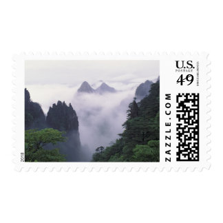 Landscape of Mt. Huangshan (Yellow Mountain) in Stamp