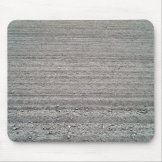 Landscape of Ploughed Field with Rows Pattern Mouse Pad